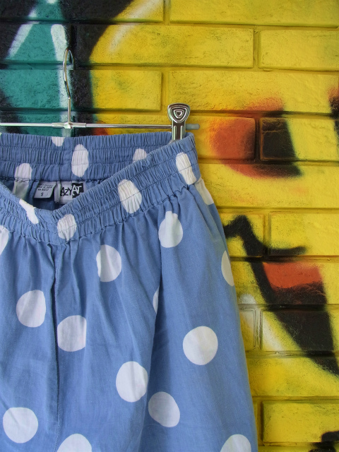 画像1: [USED]-90's【KRAZY KAT】DOT DESIGN SHORTS