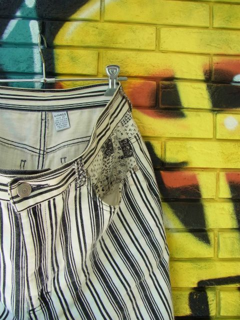 画像1: [USED]-90's【GITANO】STRIPE DESIGN DENIM SHORTS