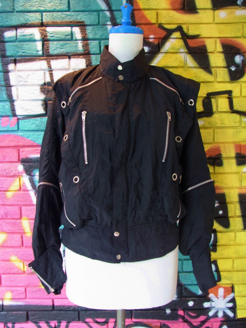 画像3: [USED]-80's【YU-MO】PARACHUTE DESIGN NYLON JACKET