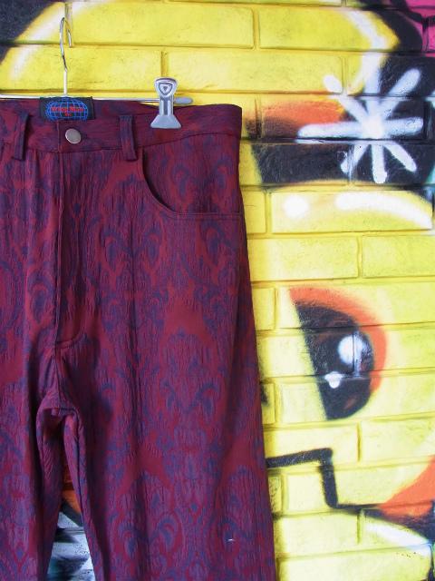画像1: [USED]-80's【TRIPP MAN】ALL OVER DESIGN LONG PANTS