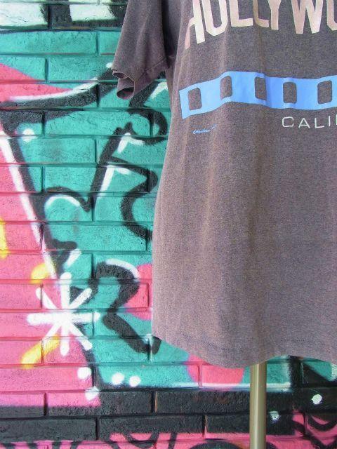 """画像2: [USED]-80's【Hanes】 """"HOLLYWOOD"""" DESIGN PRINT T-Shirts"""