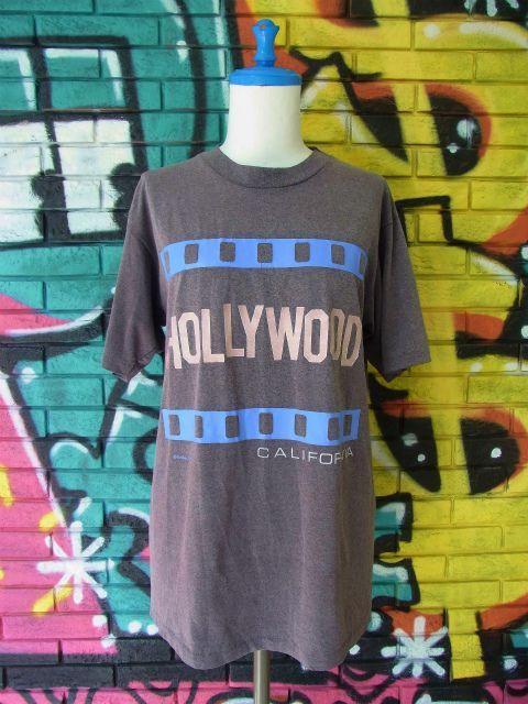 """画像3: [USED]-80's【Hanes】 """"HOLLYWOOD"""" DESIGN PRINT T-Shirts"""