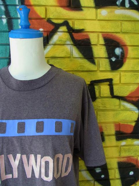"""画像1: [USED]-80's【Hanes】 """"HOLLYWOOD"""" DESIGN PRINT T-Shirts"""