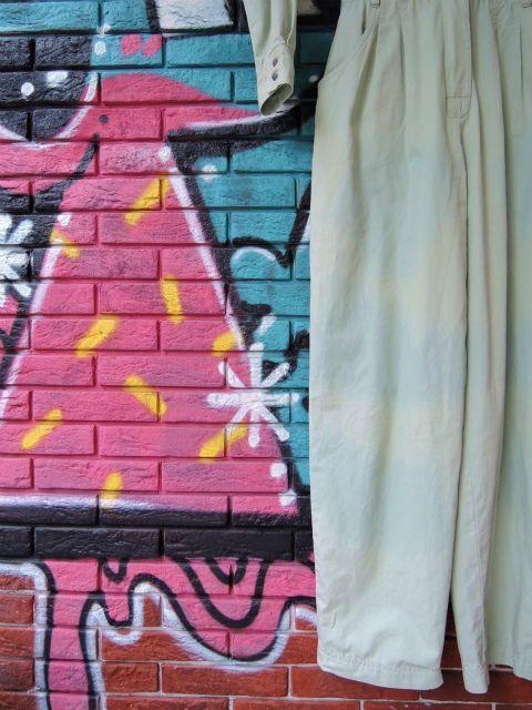 画像4: [USED]-90's【Liz clibone 】NO COLLAR DESIGN JUMPER SUIT