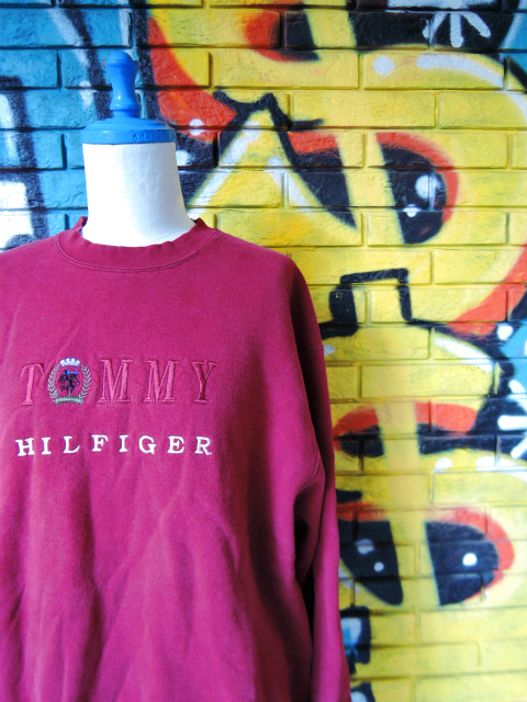 画像3: [USED]-90's【TOMMY HILFIGER-bootleg-】EMBROIDERY SWEAT-2