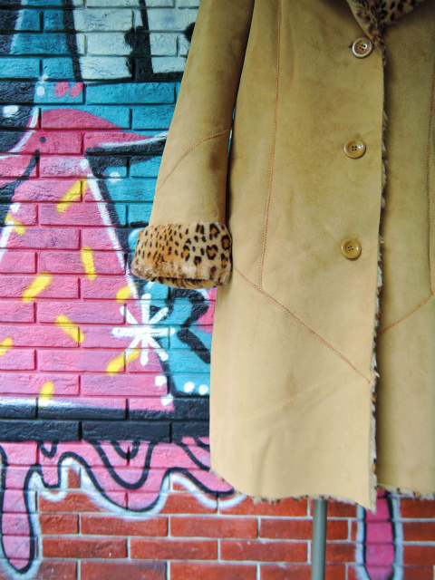 画像4: [USED]-90's【NEWPORT NEWS】LEOPARD DENIM BOA COAT