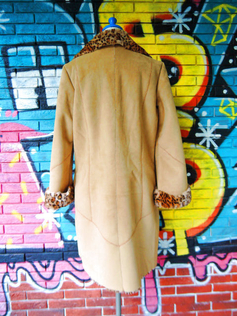 画像2: [USED]-90's【NEWPORT NEWS】LEOPARD DENIM BOA COAT