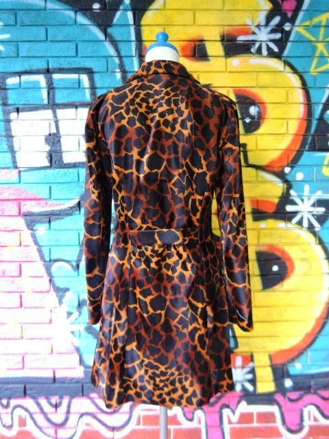 画像2: [USED]-90's【A.BYER CALIFORNIA】GIRAFFE ALL OVER DESIGN COAT