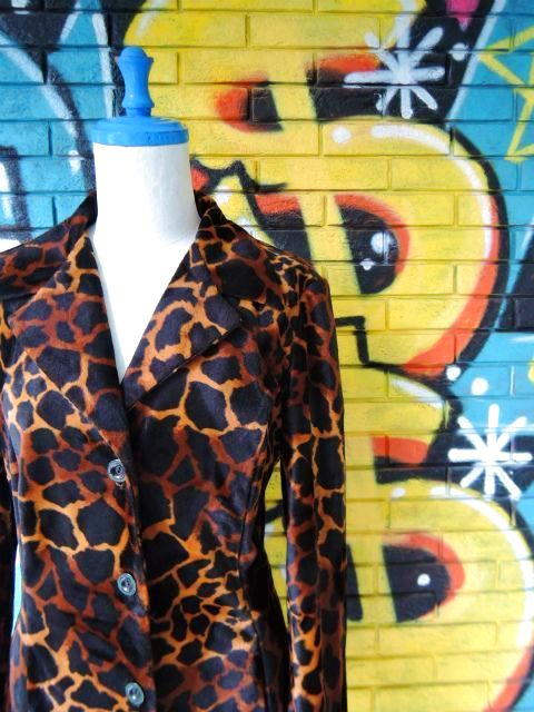 画像3: [USED]-90's【A.BYER CALIFORNIA】GIRAFFE ALL OVER DESIGN COAT