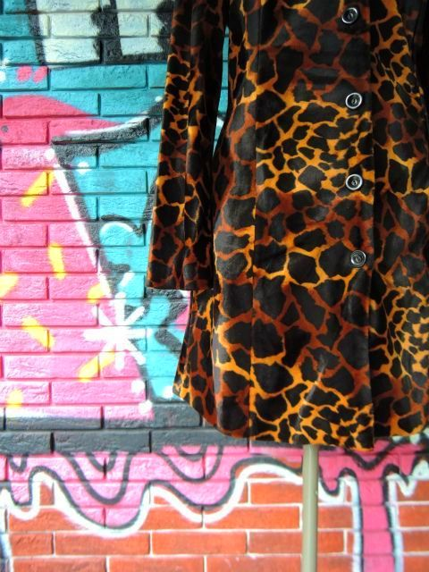 画像4: [USED]-90's【A.BYER CALIFORNIA】GIRAFFE ALL OVER DESIGN COAT
