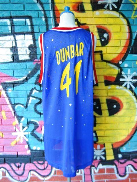 """画像2: [USED]-90's【REEBOK】""""HARLEM GLOBETROTTERS DUNBER #41"""" BASKETBALL GAME Shirts"""