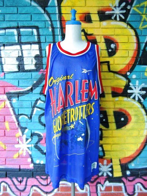 """画像1: [USED]-90's【REEBOK】""""HARLEM GLOBETROTTERS DUNBER #41"""" BASKETBALL GAME Shirts"""