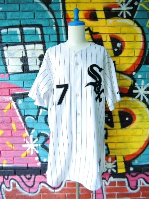 "画像1: [USED]-90's【Majestic】""CHICAGO WHITE SOX FIELDS #27"" BASEBALL Shirts"