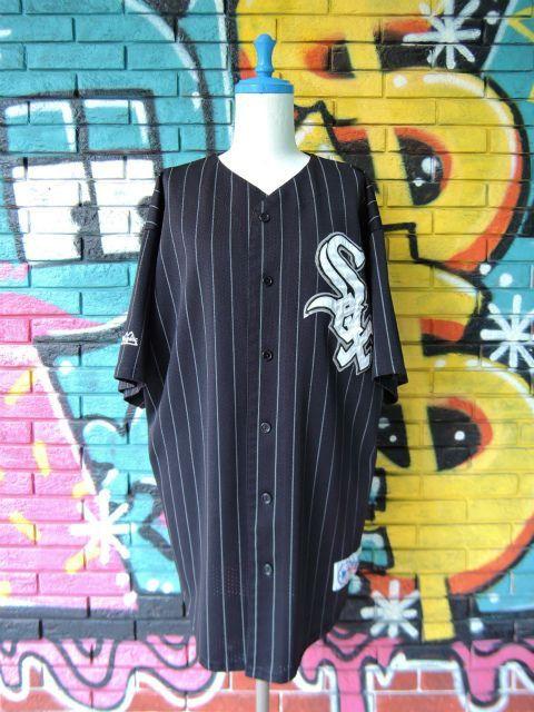 """画像1: [USED]-90's【Majestic】""""CHICAGO WHITE SOX"""" BASEBALL Shirts"""