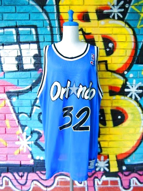 "画像1: [USED]-90's【Champion】""ORLANDO MAGIC O'NELL #32"" GAME JERSEY-BLUE"