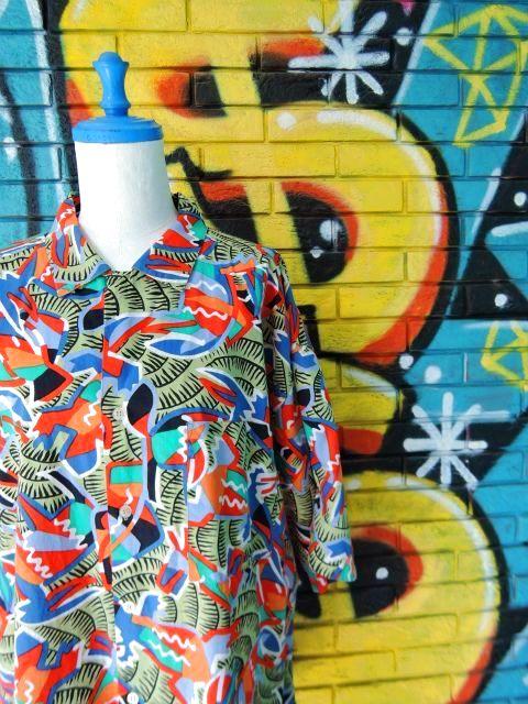 画像3: [USED]-90's【gottex】ALL OVER DESIGN S/S-Shirts