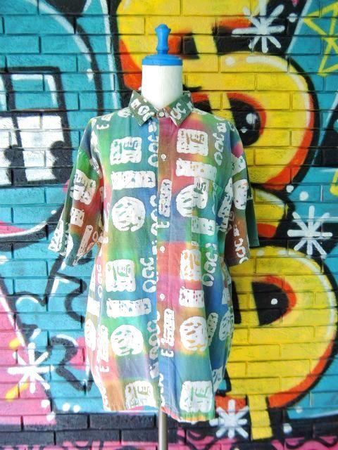 画像1: [USED]-90's【CUPPUCCINO】ALL OVER DESIGN S/S-Shirts