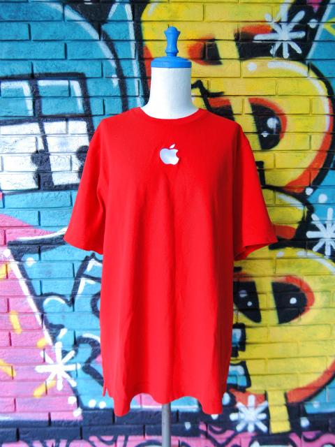 画像1: [USED]-2Ks【Apple Computer】ONE POINT EMBROIDERY T-Shirts