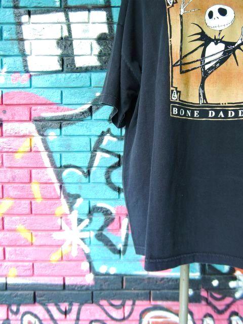 """画像4: [USED]-90s【The Nightmare Before Christmas】""""BONE DADDY """" PRINT T-Shirts"""