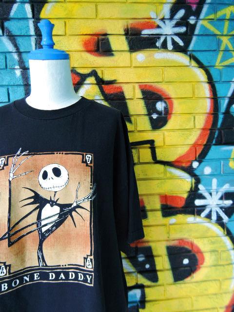 """画像3: [USED]-90s【The Nightmare Before Christmas】""""BONE DADDY """" PRINT T-Shirts"""