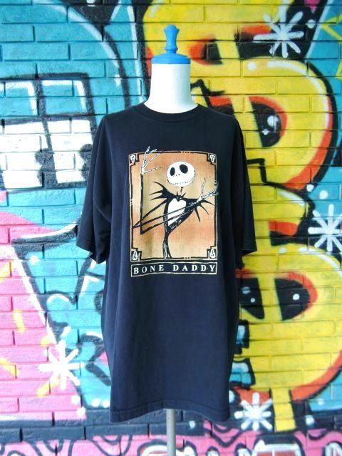 """画像1: [USED]-90s【The Nightmare Before Christmas】""""BONE DADDY """" PRINT T-Shirts"""