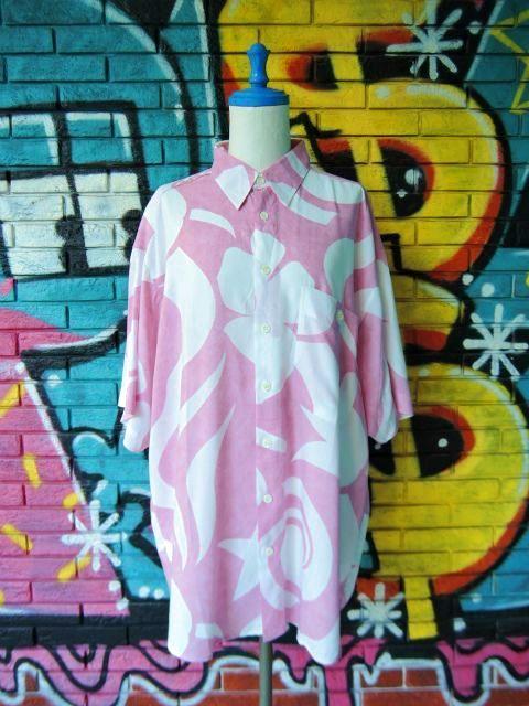 画像1: [USED]-90s【MEN'S FASHION】ALL OVER DESIGN S/S-Shirts