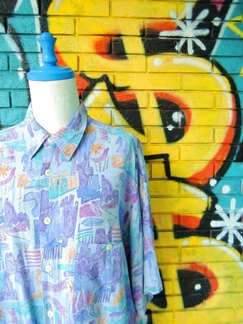 画像3: [USED]-90s【Cartouche】ALL OVER DESIGN S/S-Shirts