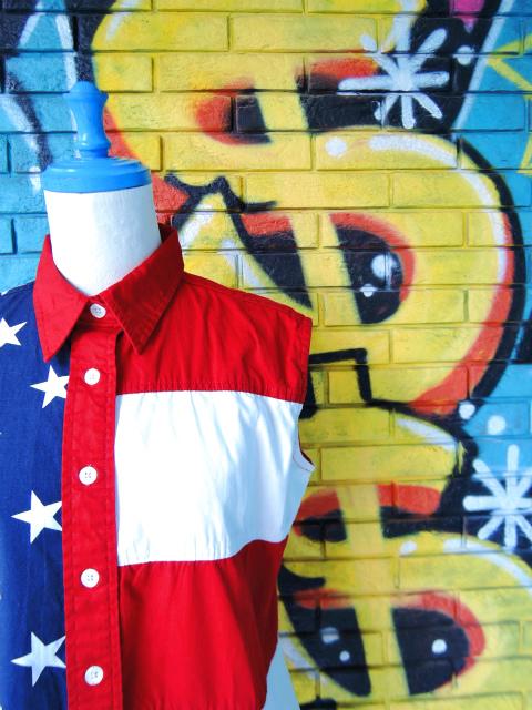 画像3: [USED]-90's【Natural Reflections】STAR&STRIPE DESIGN N/S-Shirts