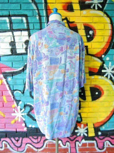 画像2: [USED]-90s【Cartouche】ALL OVER DESIGN S/S-Shirts