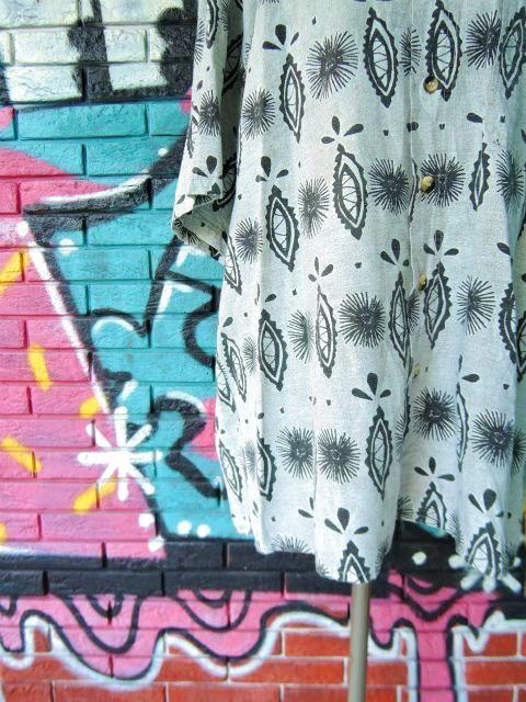 画像4: [USED]-90s【NAVY BLUE】ALL OVER DESIGN S/S-Shirts
