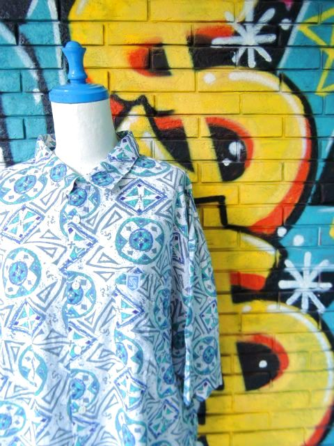 画像3: [USED]-90s【QUICKSILVER】ALL OVER DESIGN S/S-Shirts