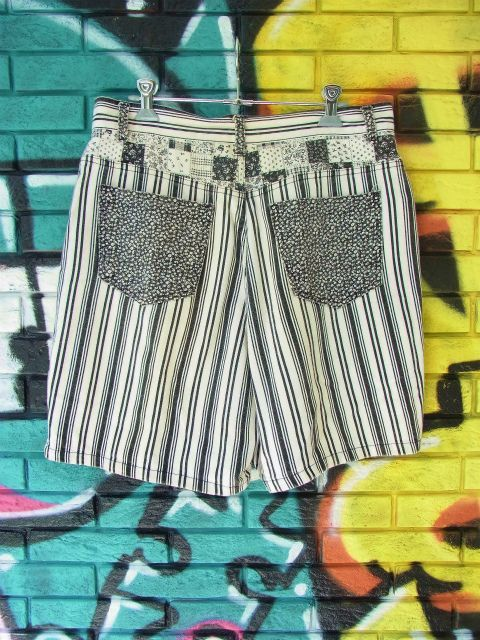 画像4: [USED]-90's【GITANO】STRIPE DESIGN DENIM SHORTS