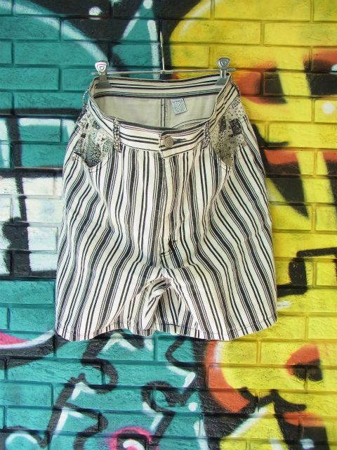 画像3: [USED]-90's【GITANO】STRIPE DESIGN DENIM SHORTS