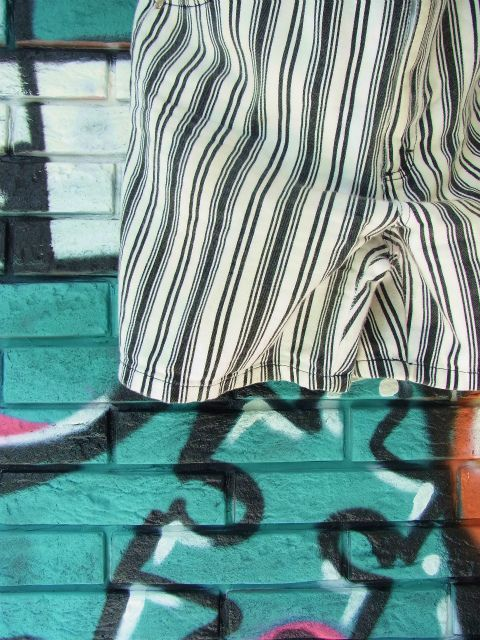 画像2: [USED]-90's【GITANO】STRIPE DESIGN DENIM SHORTS