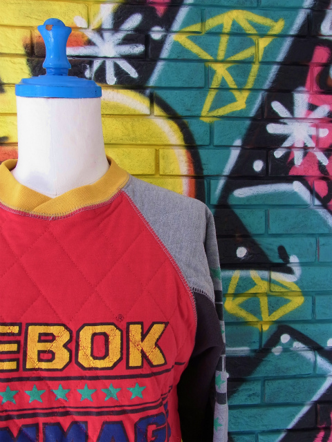 画像1: [USED]-80's【REEBOK SPORT】 RACING DESIGN SWEAT