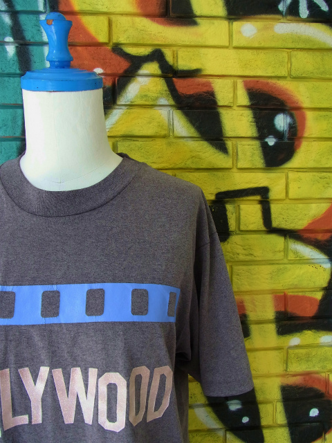 "画像1: [USED]-80's【Hanes】 ""HOLLYWOOD"" DESIGN PRINT T-Shirts"