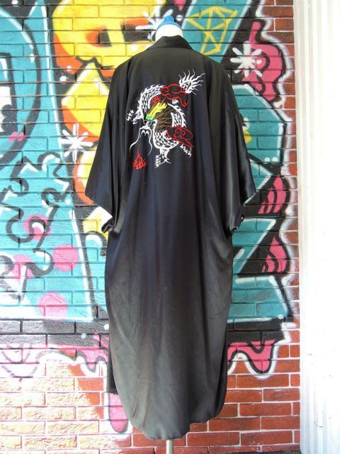 "画像4: [USED]-80's ""DRAGON""CHINA  DESIGN SATIN GOWN"
