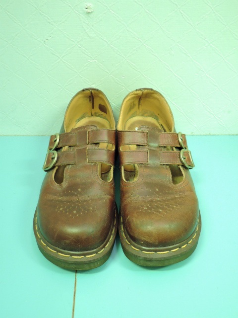 画像1: [USED]-80's【Dr.Martens】2 STRAP DESIGN LEATHER SHOES
