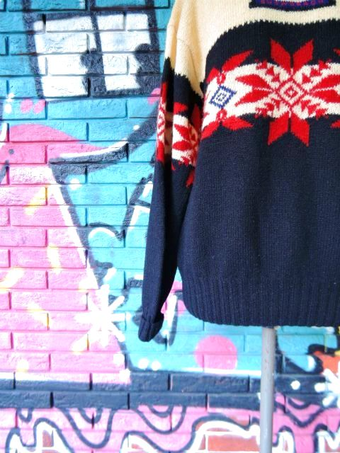 "画像4: [USED]-90's【Ralph Lauren】""'94 SNOW BEACH"" NORDIC SWEATER"