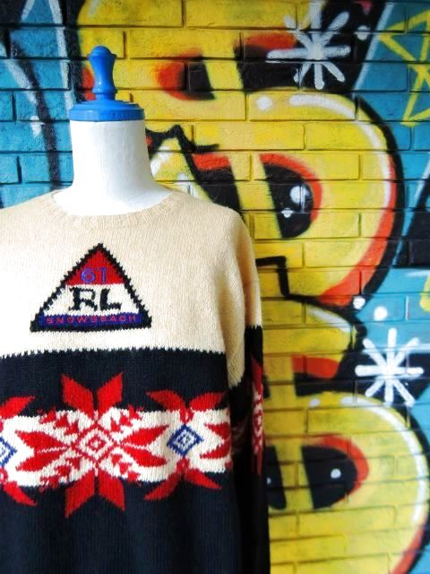 "画像3: [USED]-90's【Ralph Lauren】""'94 SNOW BEACH"" NORDIC SWEATER"