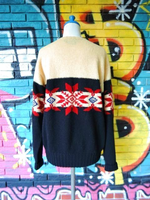 "画像2: [USED]-90's【Ralph Lauren】""'94 SNOW BEACH"" NORDIC SWEATER"