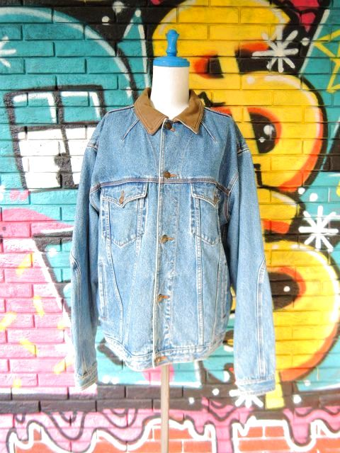 画像1: [USED]-90's【ST JHON'SBAY】COLLAR DESIGN DENIM JACKET