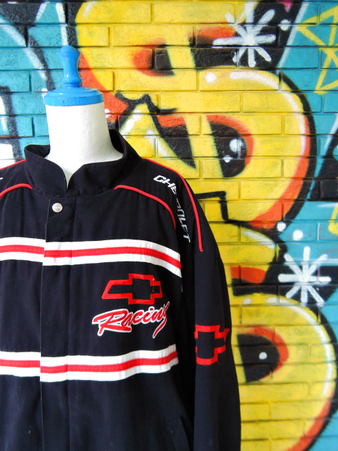 "画像3: [USED]-90's【ESSEX】""CHEVROLET Racing"" RACING JACKET"