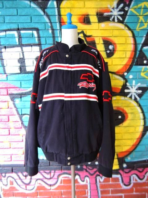 "画像1: [USED]-90's【ESSEX】""CHEVROLET Racing"" RACING JACKET"