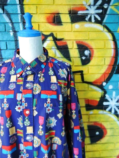画像3: [USED]-90's【TOMMY HILFIGER】ALL OVER DESIGN L/S-Shierts-MEDAL