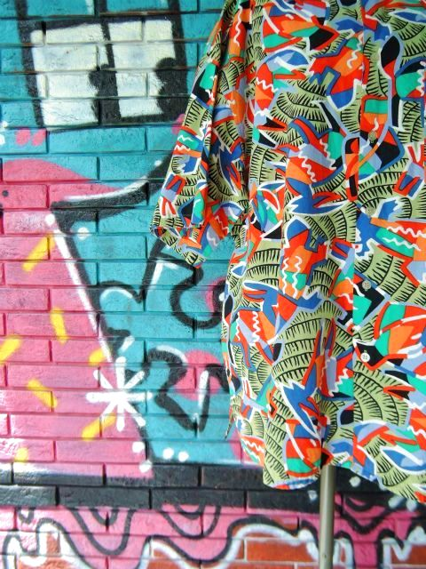 画像4: [USED]-90's【gottex】ALL OVER DESIGN S/S-Shirts