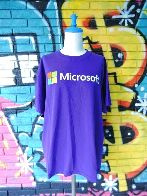"""画像1: [USED]-90s【FRUIT OF THE ROOM】""""Microsoft"""" PRINT T-Shirts"""